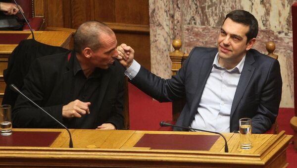 Yunanistan Başbakanı Aleksis Çipras - Maliye Bakanı Yannis Varufakis - Sputnik Türkiye