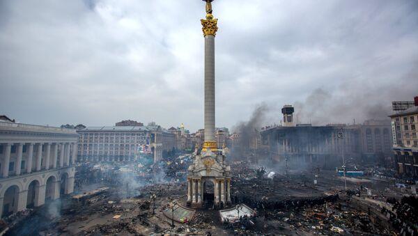 Ukrayna'nın başkenti Kiev'deki Maydan protestoları - Sputnik Türkiye