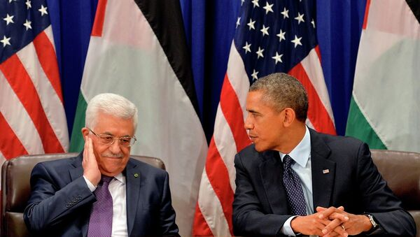 ABD Başkanı Barack Obama - Filistin lideri Mahmud Abbas - Sputnik Türkiye