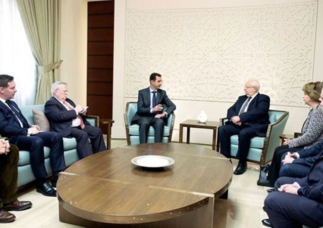 Suriye Devlet Başkanı Beşar Esad, Fransa'dan gelen vekil ve senatörlerle bir araya geldi.