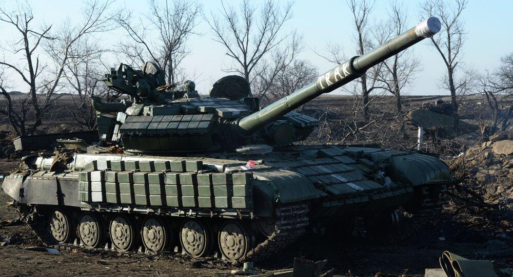 Debaltsevo'da bir tank