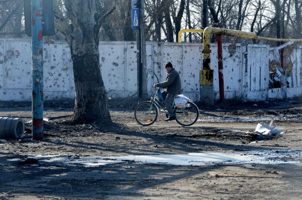 Donetsk Havalimanı yakınlarında