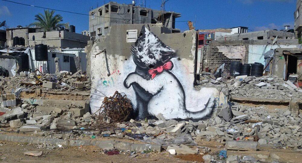 Sokak sanatçısı Banksy- Gazze