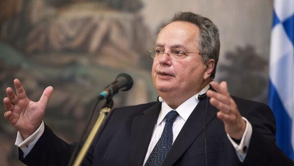 Yunanistan Dışişleri Bakanı Nikos Kocyas (Nikos Kotzias) - Sputnik Türkiye