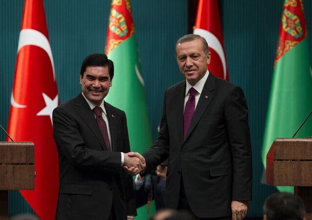 Recep Tayyip Erdoğan & Gurbanguli Berdimuhamedov