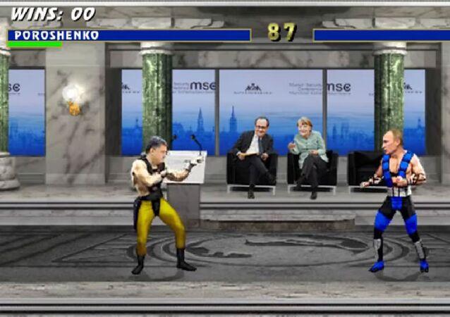 Mortal Kombat Ukrayna versiyonu: Poroşenko vs Putin