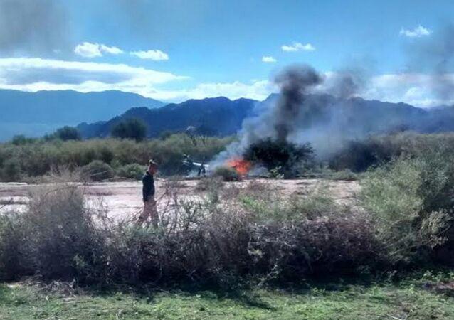 Arjantin'de helikopter kazası