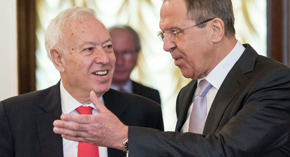 Rusya Dışişleri Bakanı Sergey Lavrov ve İspanya Dışişleri Bakanı Jose Manuel Garcia Margallo