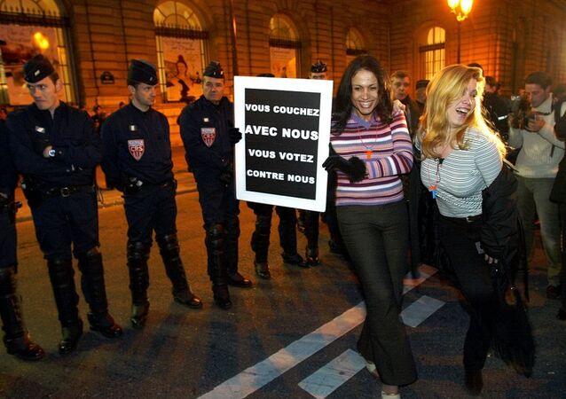 Fransa'da seks işçilerinin eylemi
