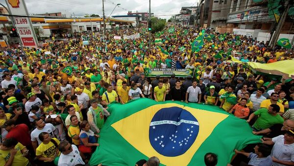 Brezilya'da Devlet Başkanı Dilma Rousseff karşıtı gösteriler - Sputnik Türkiye