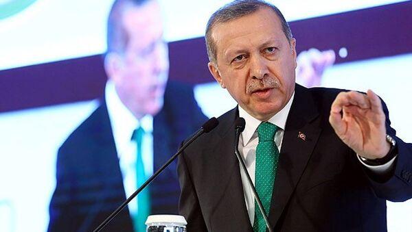 """Gaziantep'teki toplu açılış töreninde konuşan Erdoğan, başkanlık sistemi ile ilgili olarak, """"400 milletvekilini verin ve bu iş huzur içinde çözülsün"""" dedi. - Sputnik Türkiye"""