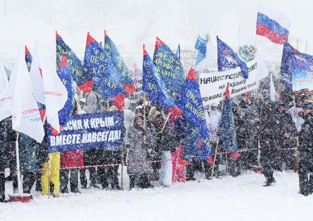 Kırım'da Rusya ile birleşmenin 1. yılı kutlanıyor