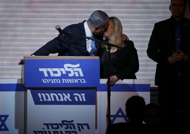 İsrail Başbakanı Benyamin Netanyahu ve  eşi Sara Netanyahu
