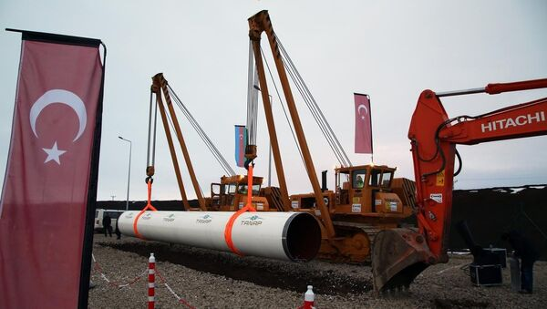 TANAP'ın temeli atıldı - Sputnik Türkiye