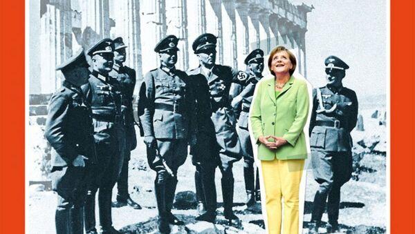 Der Spiegel, Merkel'i Nazilerle aynı kareye aldı - Sputnik Türkiye