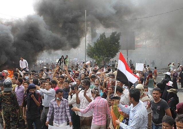 Yemen Husi karşıtı gösteriler