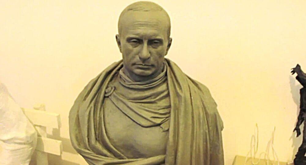 Rusya Devlet Başkanı Vladimir Putin'in bronz büstü