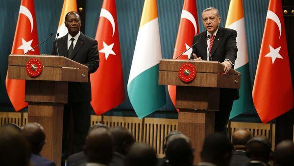 Türkiye Cumhurbaşkanı Recep Tayyip Erdoğan - Fildişi Sahili Cumhurbaşkanı Alassane Vattara - Sputnik Türkiye