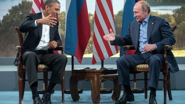 ABD Başkanı Barack Obama- Rusya Devlet Başkanı Vladimir Putin - Sputnik Türkiye
