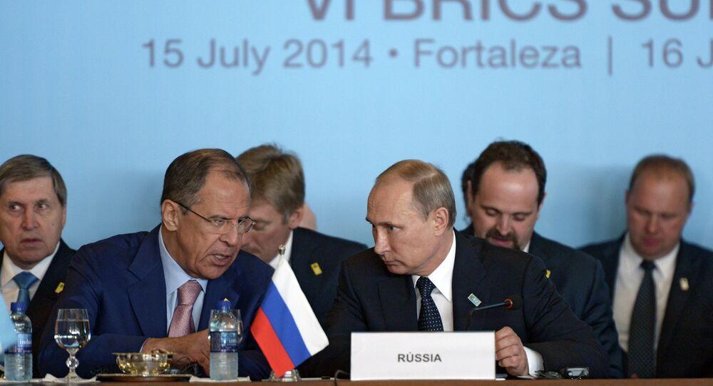 Rusya Devlet Başkanı Vladimir Putin ve Rusya Dışişleri Bakanı Sergey Lavrov / BRICS toplantısı