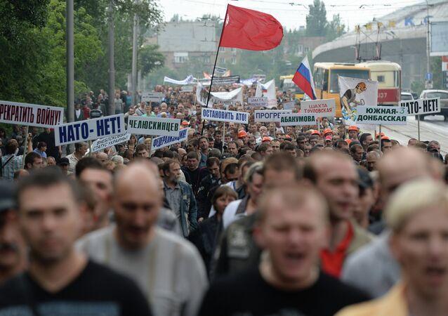 Ukrayna'da NATO karşıtı eylem