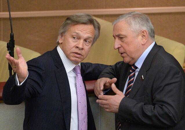 Duma Uluslararası İlişkiler Komitesi Başkanı Aleksey Puşkov