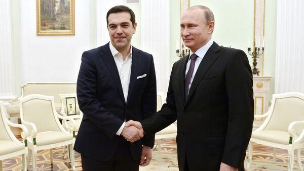 Yunanistan Başbakanı Aleksis Çipras ve Rusya Devlet Başkanı Vladimir Putin - Sputnik Türkiye