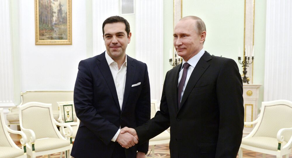 Yunanistan Başbakanı Aleksis Çipras ve Rusya Devlet Başkanı Vladimir Putin