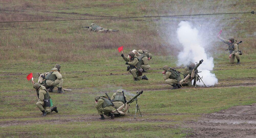 Rus ordusundan askeri tatbikat