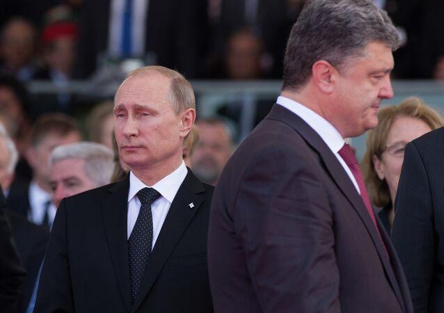 Vladimir Putin & Pyotr Poroşenko