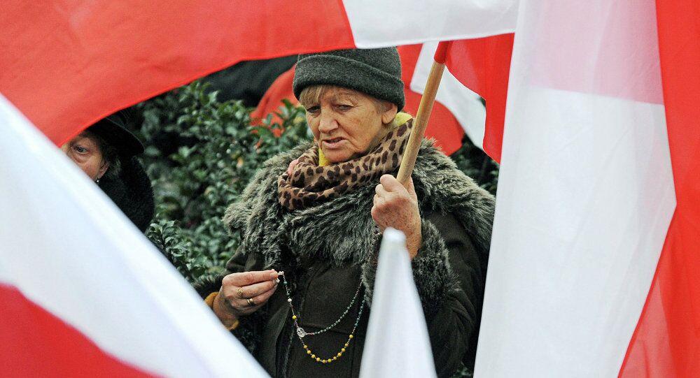 Polonya'nın Krakow kentinde protesto