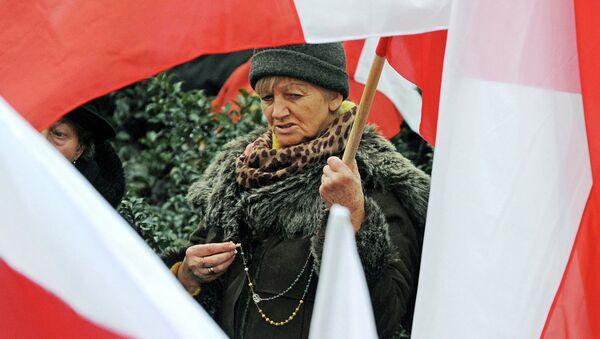 Polonya'nın Krakow kentinde protesto - Sputnik Türkiye