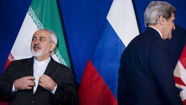 İran Dışişleri Bakanı Muhammed Cevad Zarif- ABD Dışişleri Bakanı John Kerry - Sputnik Türkiye