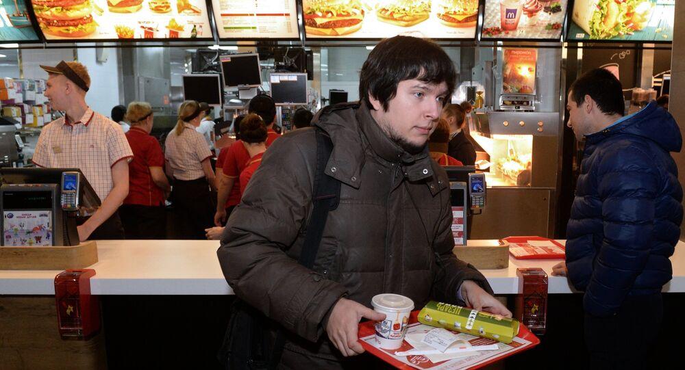 Rusya'da bir McDonald's restoranı