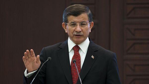 Başbakan Ahmet Davutoğlu, - Sputnik Türkiye