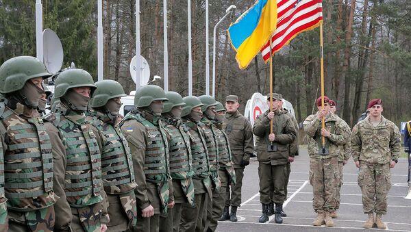 ABD ve Ukrayna askerlerinden askeri tatbikat - Sputnik Türkiye