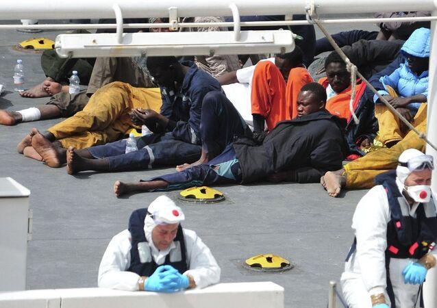 Akdeniz'de batan göçmen teknesi