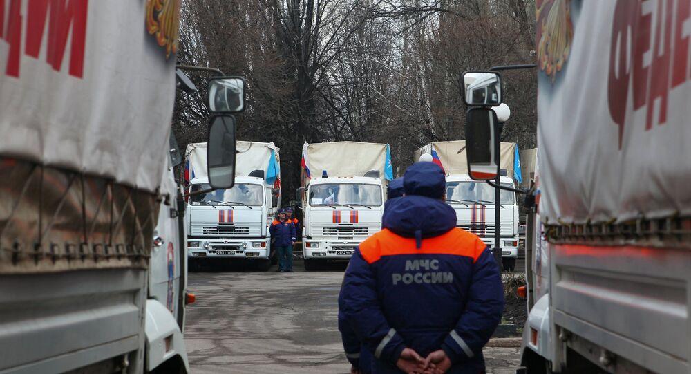 Donbass'a insani yardım konvoyu