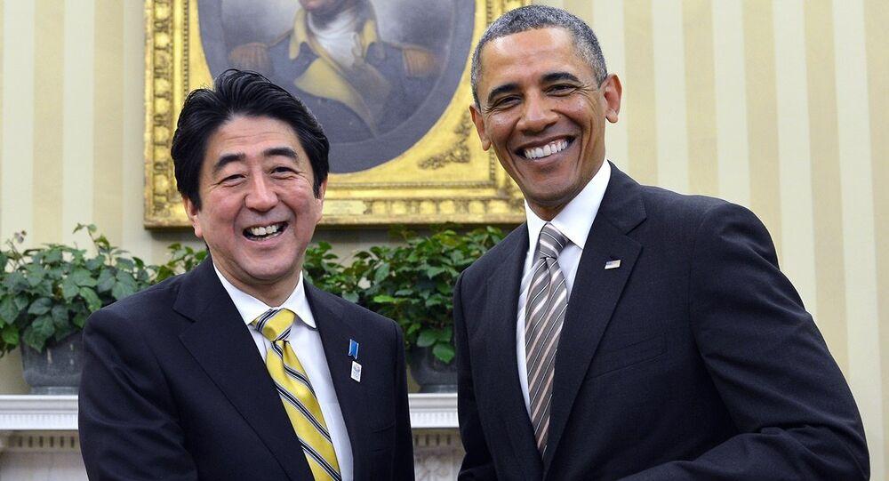ABD Başkanı Barack Obama ve Japonya Başbakanı Şinzo Abe