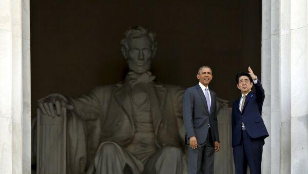 ABD Başkanı Barack Obama- Japonya Başbakanı Şinzo Abe - Sputnik Türkiye