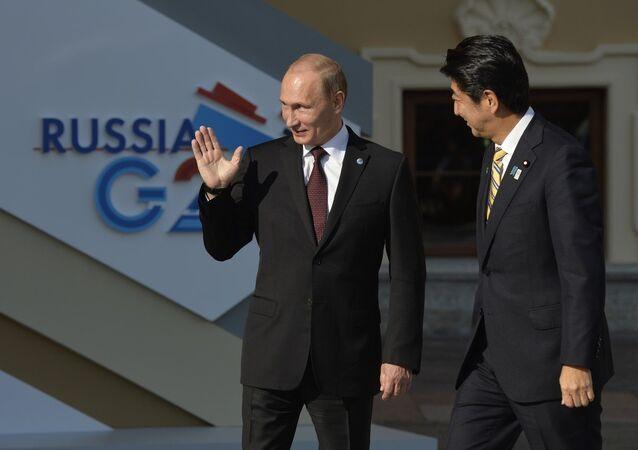Japonya Başbakanı Şinzo Abe ve Rusya Devlet Başkanı Vladimir Putin