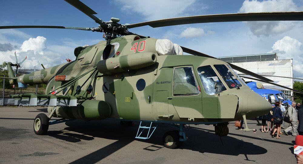 Rusya ordusuna ait bir askeri helikopter