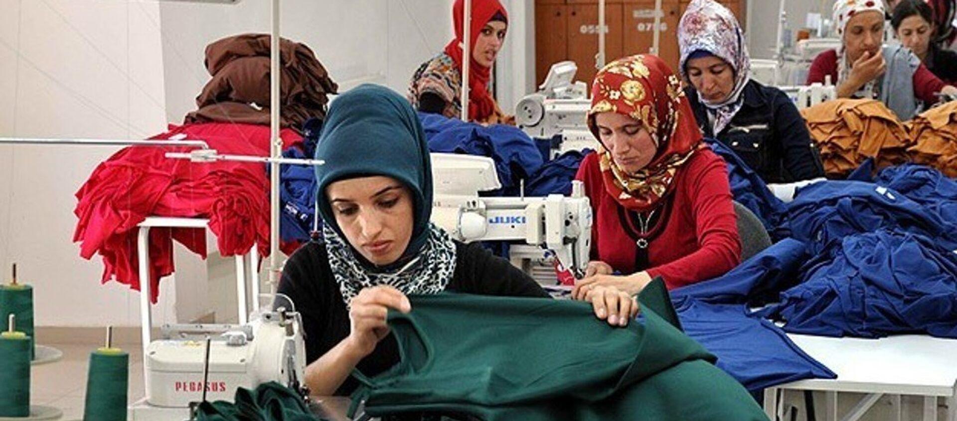tekstil - kadın - işçi - fabrika - Sputnik Türkiye, 1920, 15.07.2021