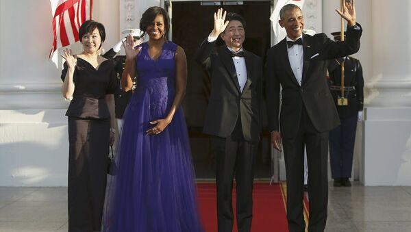 Japonya Başbakanı Şinzo Abe'nin ABD ziyareti - Sputnik Türkiye