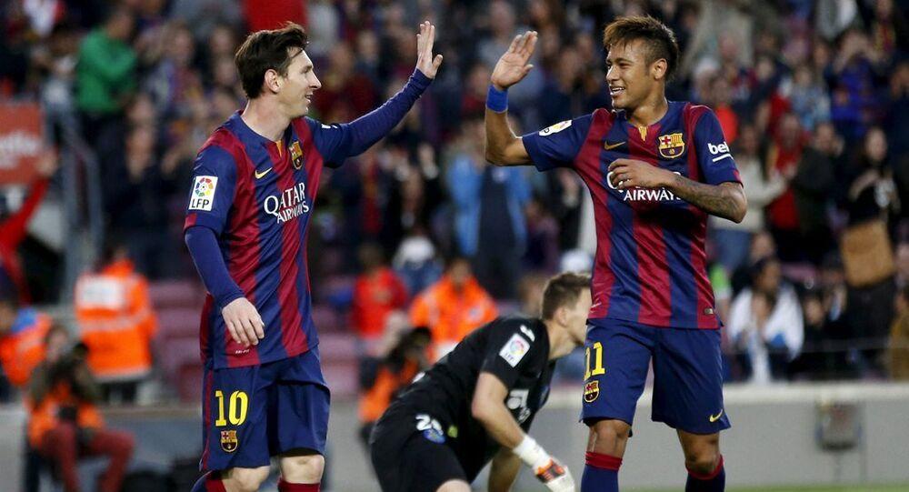 Barcelona oyuncuları Messi ve Neymar