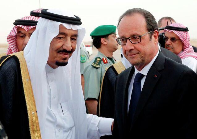 Suudi Arabistan Kral Selman bin Abdulaziz- Fransa Cumhurbaşkanı François Hollande