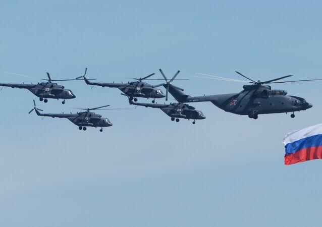 Mi-26 tipi ağır yük taşıma helikopteri, Mi-8 tipi çok amaçlı helikopterler