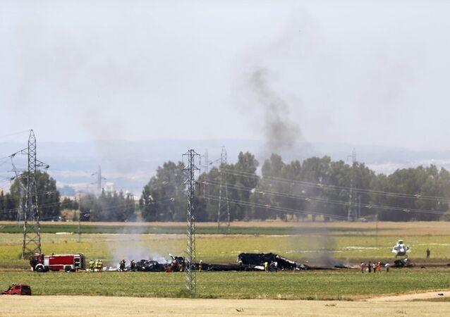 İspanya-uçak kazası