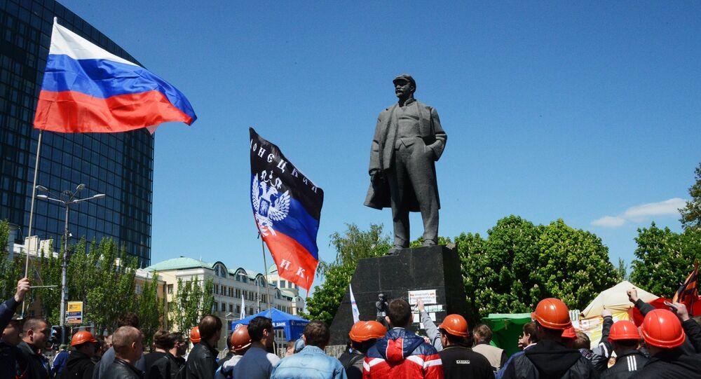 Donetsk ve Lugansk'taki bağımsızlık referandumu 1. yılında