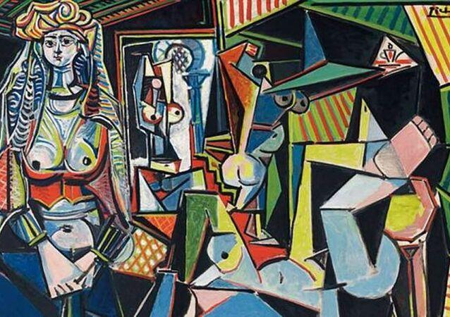 Pablo Picasso'nun 'Les femmes d'Alger, Version O' (Cezayirli Kadınlar, Versiyon O) adlı tablosu